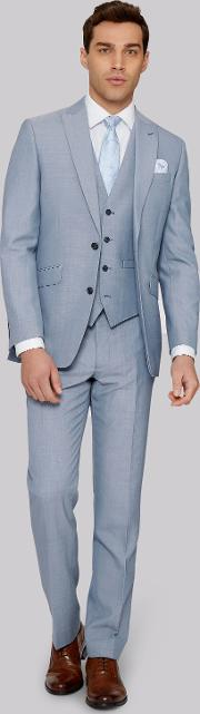 Moss 1851 , Tailored Fit Ice Blue Jacket