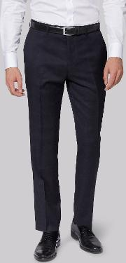Moss 1851 , Tailored Fit Navy Check Trousers