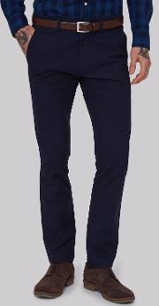 Moss 1851 , Tailored Fit Navy Chino