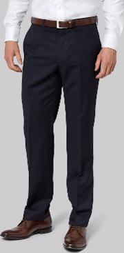 Moss 1851 , Tailored Fit Navy Trousers
