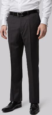 Moss Bros , Regular Fit Charcoal Trousers