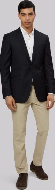 Moss Bros , Slim Fit Black Jacket