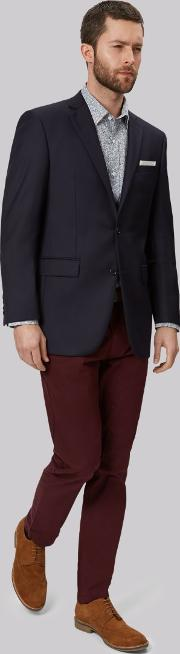 Moss Bros , Tailored Fit Navy Jacket