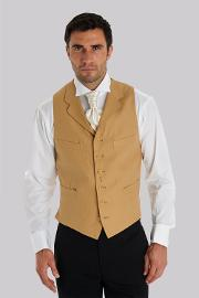 Moss Covent Garden , Moss Bros Covent Garden Tailored Fit Beige Linen Waistcoat