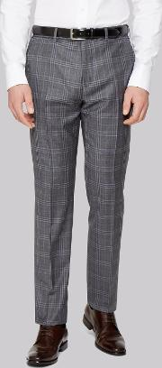 Ted Baker , Tailored Fit Grey Check Trousers