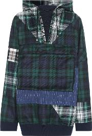 Fenty By Rihanna , Oversized Plaid Wool Hoodie