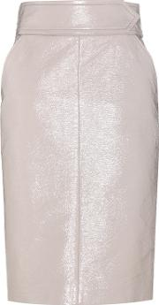 Dorothee Schumacher , Glossy Seduction Coated Cotton Skirt