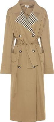 Isa Arfen , Checked Collar Trench Coat
