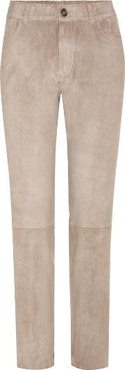 Stouls , Clark Cropped Suede Trousers