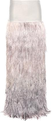 Tom Ford , Velvet And Ostrich Feather Skirt