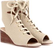 Chloe , Iness Lace Up Wedge Sandals