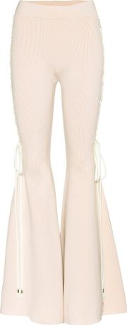Fenty By Rihanna , Cotton Blend Flared Trousers