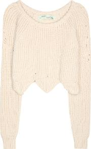 Offwhite , Cotton Blend Sweater