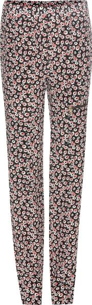 Tomas Maier , Printed Silk Crepe Trousers