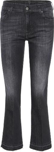 7 For All Mankind , The Ankle Flare Cropped Jeans