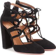 Aquazzura , Holli 105 Cut Out Suede Ankle Boots