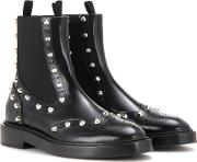 Balenciaga , Embellished Leather Chelsea Boots