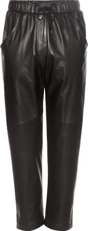 Brunello Cucinelli , Leather Cropped Trousers