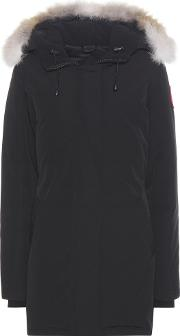 Canada Goose , Victoria Down Jacket With Fur Trimmed Hood