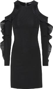 David Koma , Ruffled Open Shoulder Dress