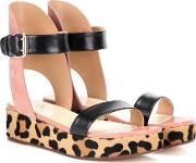 Francesco Russo , Leather, Suede And Calf Hair Sandals