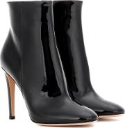Gianvito Rossi , Dree Patent Leather Ankle Boots