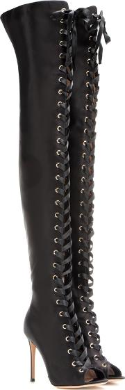 Gianvito Rossi , Marie Satin Over The Knee Boots