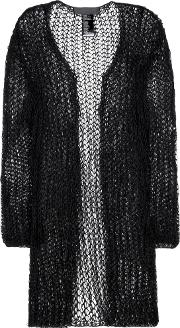 Haider Ackermann , Cotton And Mohair Blend Open Cardigan