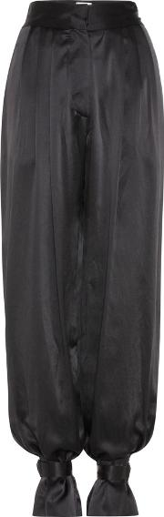 Hillier Bartley , High Rise Silk Satin Trousers