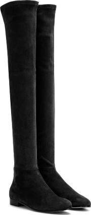 Jimmy Choo , Myren Flat Suede Over The Knee Boots