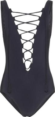 Karla Colletto , Entwined Lace Up Swimsuit