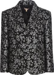 Michael Kors Collection , Multicoloured Metallic Jacquard Wool-blend Blazer