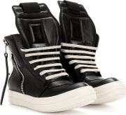 Rick Owens , Leather High Top Sneakers
