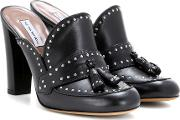 Tabitha Simmons , Diana Embellished Leather Mules