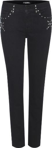7 For All Mankind , Roxanne Crop Embellished Jeans
