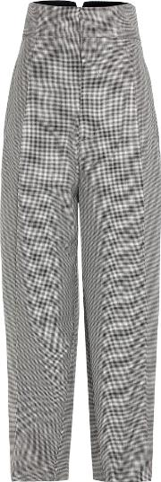 Jacquemus , Houndstooth Wool And Mohair Cropped Trousers