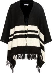 Frame , Le Hooded Striped Alpaca Poncho