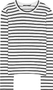 J Brand , Harper Striped Cotton Blend Top