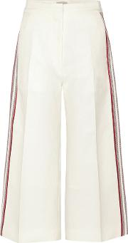 Hillier Bartley , Striped Cotton And Silk Culottes
