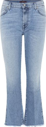 7 For All Mankind , Cropped Boot Cut Jeans