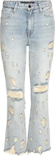 Alexander Wang , Grind High Rise Cropped Flared Jeans