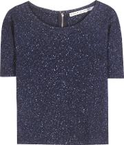 Alice  Olivia , Bethanie Wool And Silk Blend Top