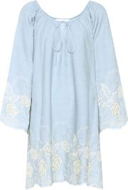 Athena Procopiou , Codre Embroidered Cotton Dress