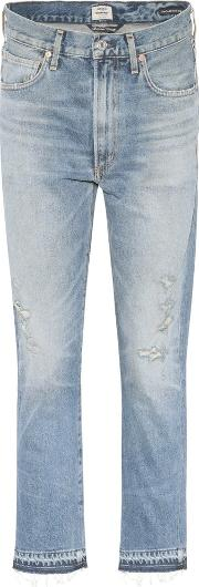 Citizens Of Humanity , Dree High Waisted Cropped Cotton Jeans