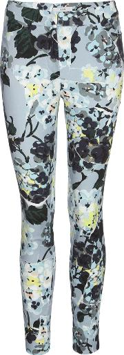 Erdem , Sidney Printed Cropped Cotton Trousers