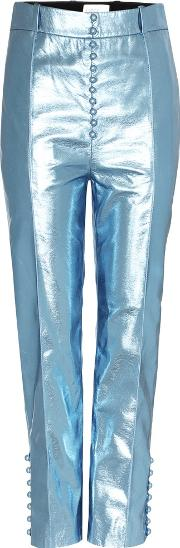 Hillier Bartley , Nappa Metal Faux Leather Trousers