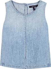 J Brand , Tayla Cotton And Linen Denim Top