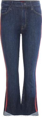 Mother , The Insider Crop Step Fray Striped Jeans