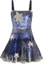 Valentino , Crystal Embellished Sequinned Silk Mini Dress