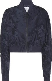Rosie Assoulin , Cropped Jacquard Bomber Jacket